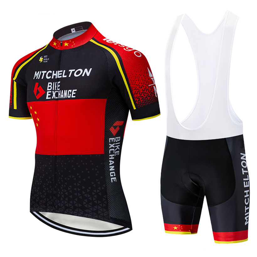 2019 Michelton Cycling Team Jersey 20D Bike Shorts Suit Ropa Ciclismo Mens Summer Quick Dry PRO Bicycle Maillot Pants Clothing