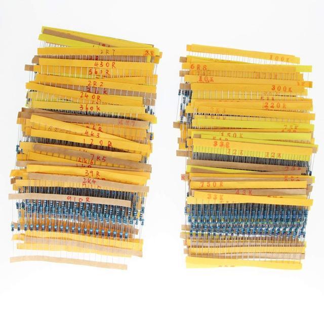 1/4w resistores pacote 168 valores x 10 pces = 1680 pces 0.1 10 m 1% gama completa resistores variedade kit