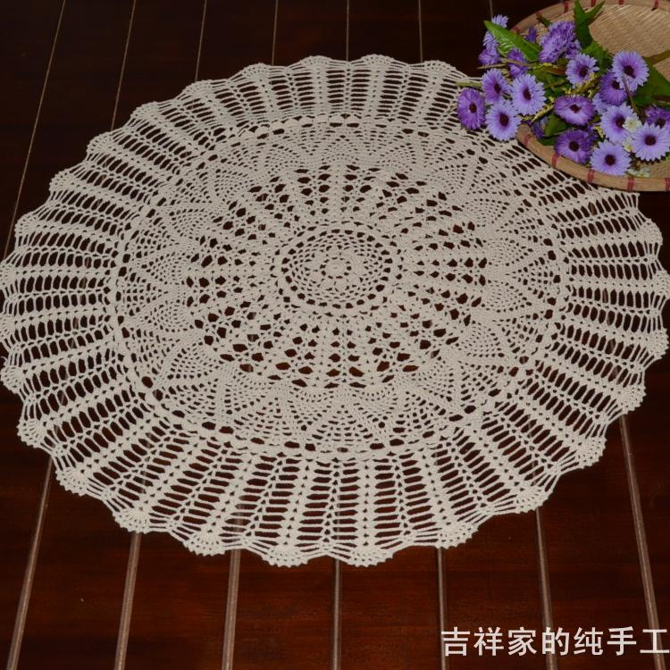 Free Shipping 100w Cotton Crochet Lace Tablcloths For Home