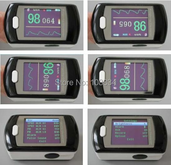 CMS50ED OLED Fingertip Pulse Oximeter SPO2 PR Monitor + Power Adapter color oled wrist fingertip pulse oximeter with software spo2 monitor