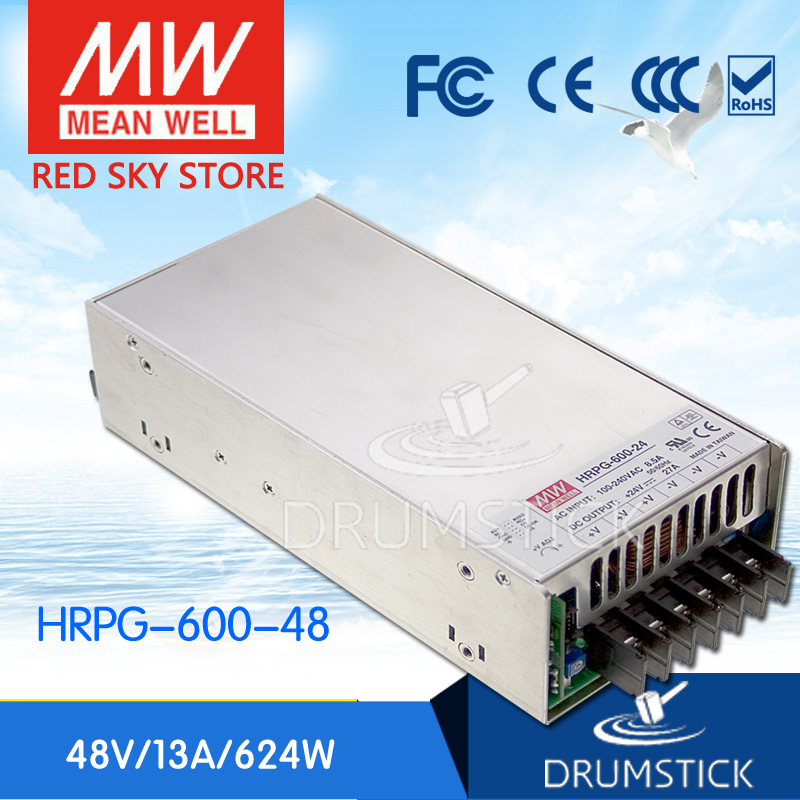 цена на Genuine MEAN WELL original HRPG-600-48 48V 13A meanwell HRPG-600 48V 624W Single Output with PFC Function Power Supply