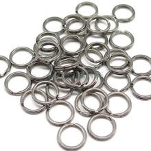 100 pcs/lot fishing Ring Split Rings for Blank Lures Crankbait Hard Bait Fishing Ring Bass Walleye Fishing