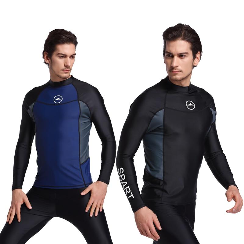SBART 2017 diving suit long sleeve Swimwear bathing suit sun-proof jellyfish clothing split male snorkeling jacket male Swimwear