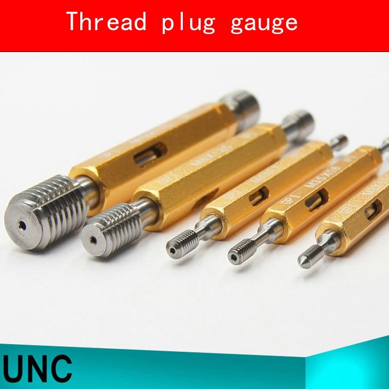 Thread Plug Gauge GO/NO GO Gage UNC 5/16-18UNC NO.6-32UNC 2B 8-32UNC 2B NO.4-40UNC HSS Material Hardness HRC53-60 m21 x 1 right hand thread gauge plug gage