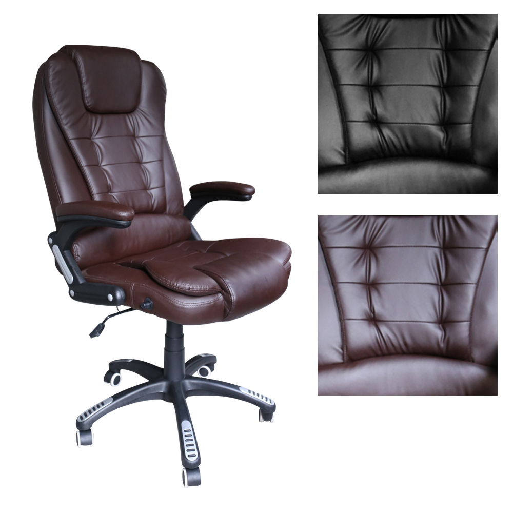 Black Brown Height 112 122cm Office Chair Game Racing Chair Reclining adjustable Office Furniture PU Leather Computer Work Chair