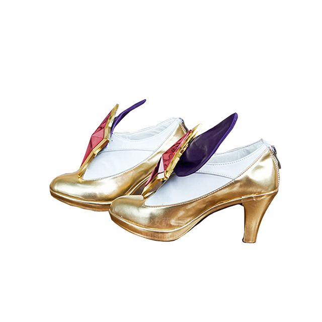 ROLECOS jeu LOL Cosplay chaussures étoile gardien Ahri talon haut LOL Ahri Cosplay chaussures filles magiques Ahri Cosplay chaussures personnalisées