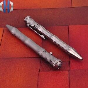 Image 2 - التيتانيوم التكتيكية القلم الدوران وظيفة EDC المحمولة نافذة كسر المحمولة الذكور والإناث الهدايا