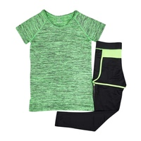 High Quality 2Pcs Set Women Causal Quick Dry Sets Breathable Cozy Short Sleeves T Shirts Long