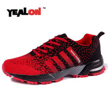 YEALON Men Shoes Krasovki Running Shoes For Men Chaussures Homme Sneakers Women Shoes Sports Men Winter Running With Fur Blue