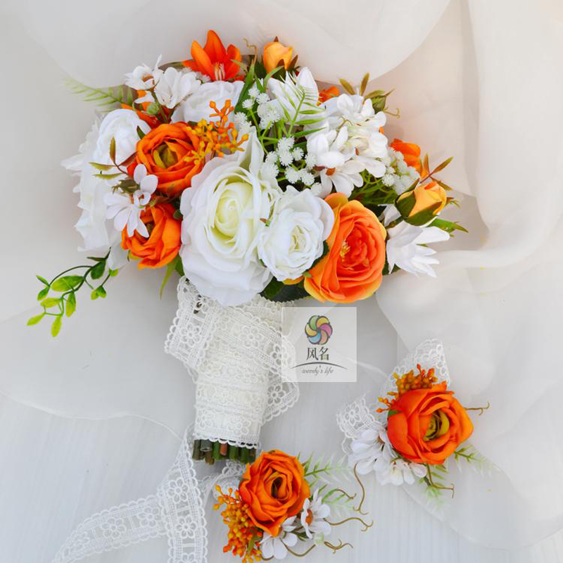 Handmade Wedding Flowers: Handmade Custom Mixed Color Silk Aritificil Flower Wedding