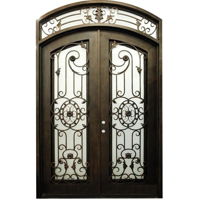 Custom Design 74 X 98 Wrought Iron Entry Double Doors Oct14 In
