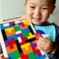 Blocos de madeira de Construção Para Construção de Inteligência Brinquedos Educativos Quebra-cabeças das Crianças do jardim de Infância Ângulo De Ajudas Regionais