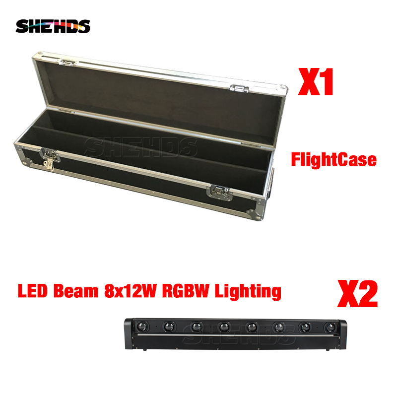 2pcs New Arrival A Flight Case For LED Bar Beam Moving Head With 8x12W RGBW LED Stage Lighting Party Business Lamp2pcs New Arrival A Flight Case For LED Bar Beam Moving Head With 8x12W RGBW LED Stage Lighting Party Business Lamp