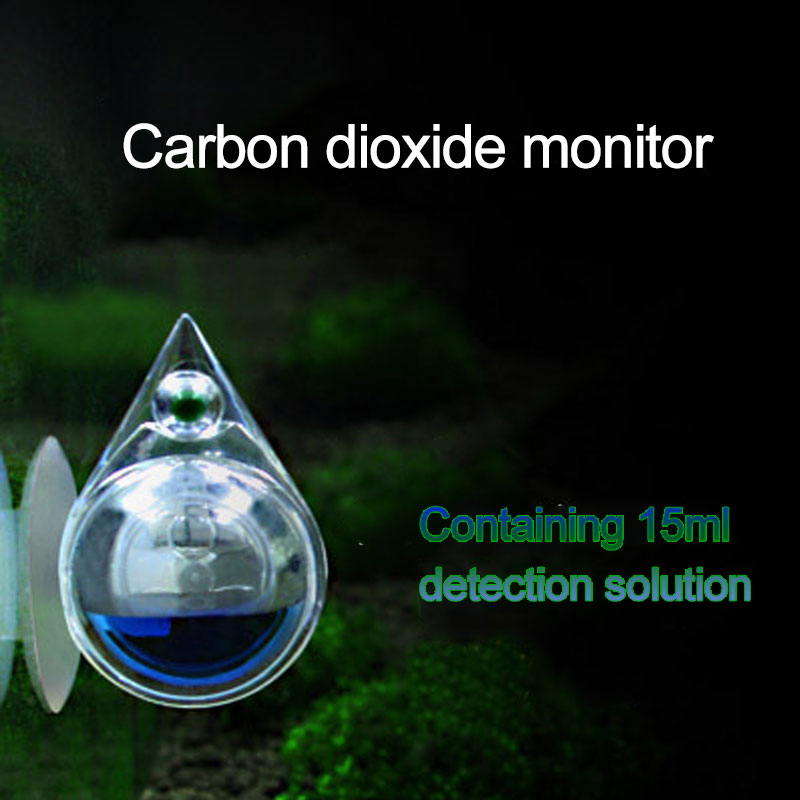 Fish & Aquariums Aquarium Carbon Dioxide Co2 Monitor Ph Indicator Glass Drop Ball Checker Tester