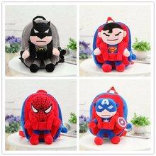 c0acd55d43 Nuovo Carino 3D Vendetta La League SpiderMan Superman Batman Il Capitano  Zaino Della Peluche Per Bambini