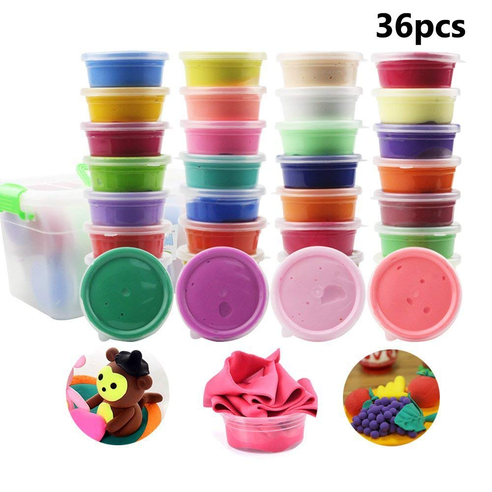 36 Colors Clay DIY Modeling Air Dry Magic Clay Plasticine Tool Children Clay New