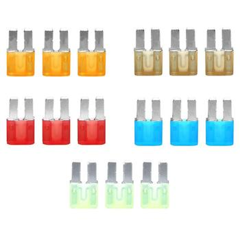 15pcs Micro2 Fuses 5A 7.5A 10A 15A 20A Car Auto Blade Fuse Assortment Kit Replacement for Auto Vehicles image