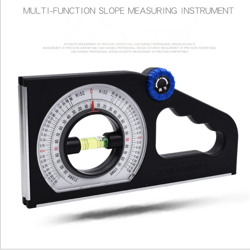 ABS Universal Slope Measuring Ruler Multifunction Angle Meter 0-180/° for Household Industrial Use Engineering Inclinometer