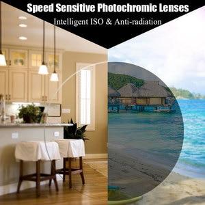 Image 2 - MR 8 Super Tough Photochromic Digital Free form Progressive Aspheric Prescription Lenses for Diamond Cutted Rimless Glasses
