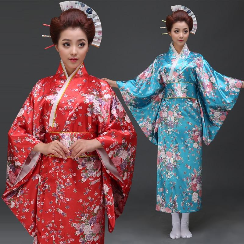 Ancient Chinese Costume New Japanese Sakura Kimono Dress Fashion Ladies Temperament Costume