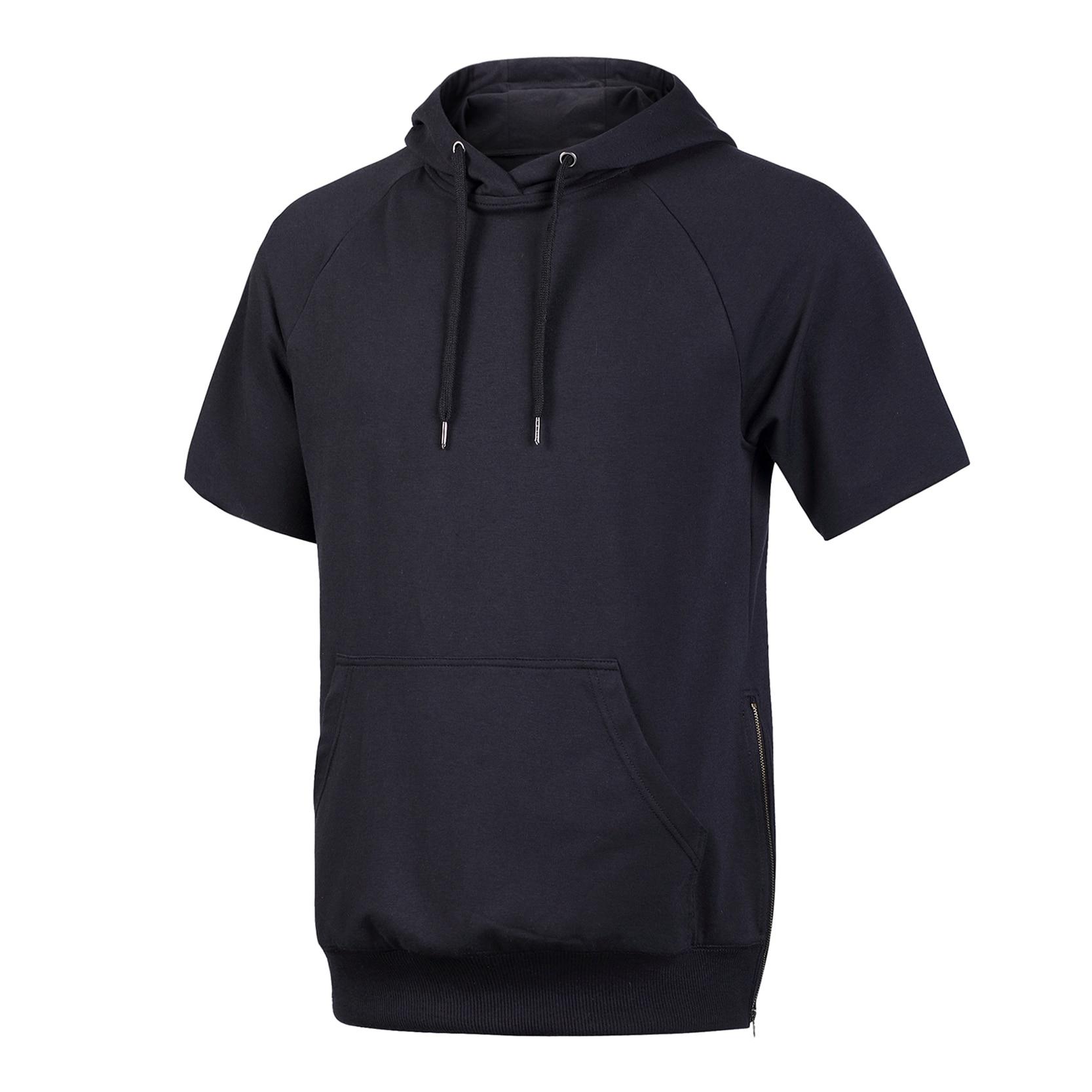 Short Sleeve Hoodie Men Zip - Hardon Clothes