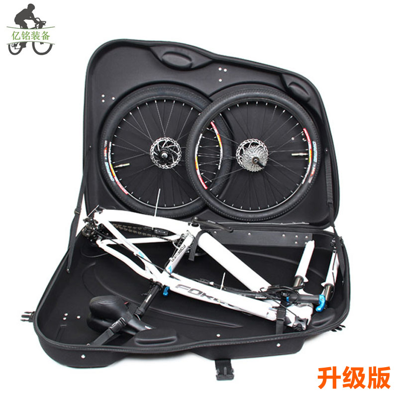 Quality eva hard-shell case folding bicycle loading package check box big wheel big bag for 26 ~27.5 inches hard tail bike