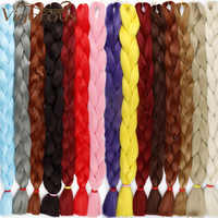 Kräftige Lange Jumbo Zöpfe Reine Farbe 82 zoll 165 gr/paket Synthetische Flechten Haar Extensions Häkeln Falsche Braid Haar
