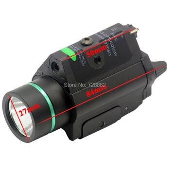 Laser Flashlight Combo For Pistol   Tactical LED Flashlight Torch Green Laser Dot Sight Combo 200LM 532nm For Hunting Pistol Guns