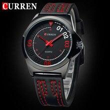 ¡ Venta caliente! CURREN Cuarzo de Los Hombres Relojes Deportivos Militar Reloj de Pulsera de LA PU Correa de Cuero Reloj Casual Male Business Watch