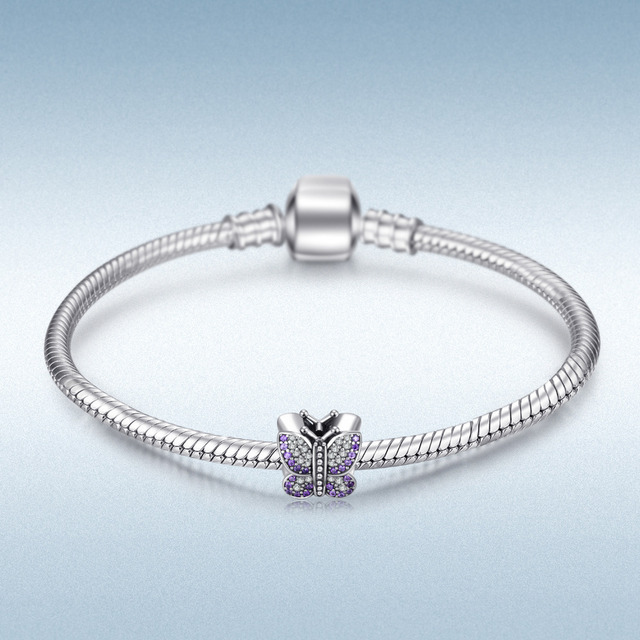 Cubic Zirconia Butterfly Charm