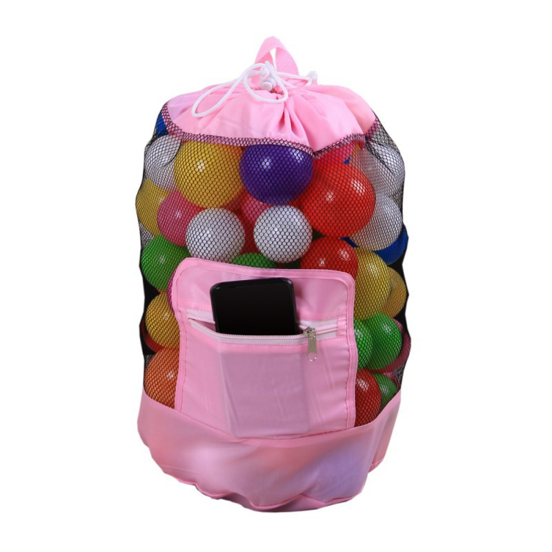 Baby Beach Toy Mesh Storage Bag Doll Organizer Suction Stuff Net Portable Ball Storage Net Bag Multi-Purpose Toys Organizer
