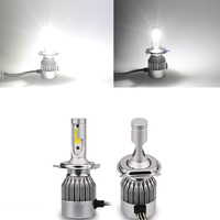 2pcs Pair Led H4 7600lm 72w C6 Led Lights Headlight Bulbs Auto H4 6000k Led Super