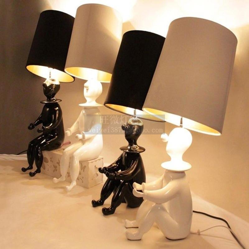 Европейский Простой личности милый клоун кукла модные креативные злодей Настольная лампа Ночной исследование спальня гостиная лампа