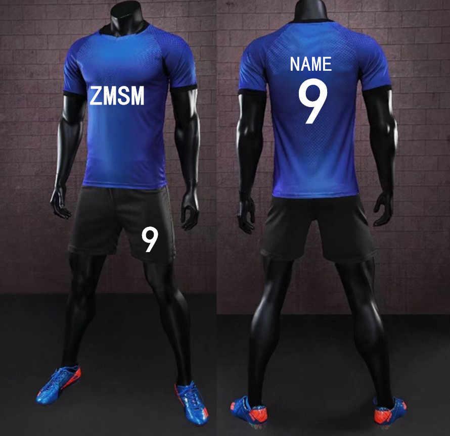 ... Zmsm 17 18 короткие Для мужчин Футбол Джерси костюм равномерное  пользовательские спортивных Джерси survete Для ... 5d90822abee
