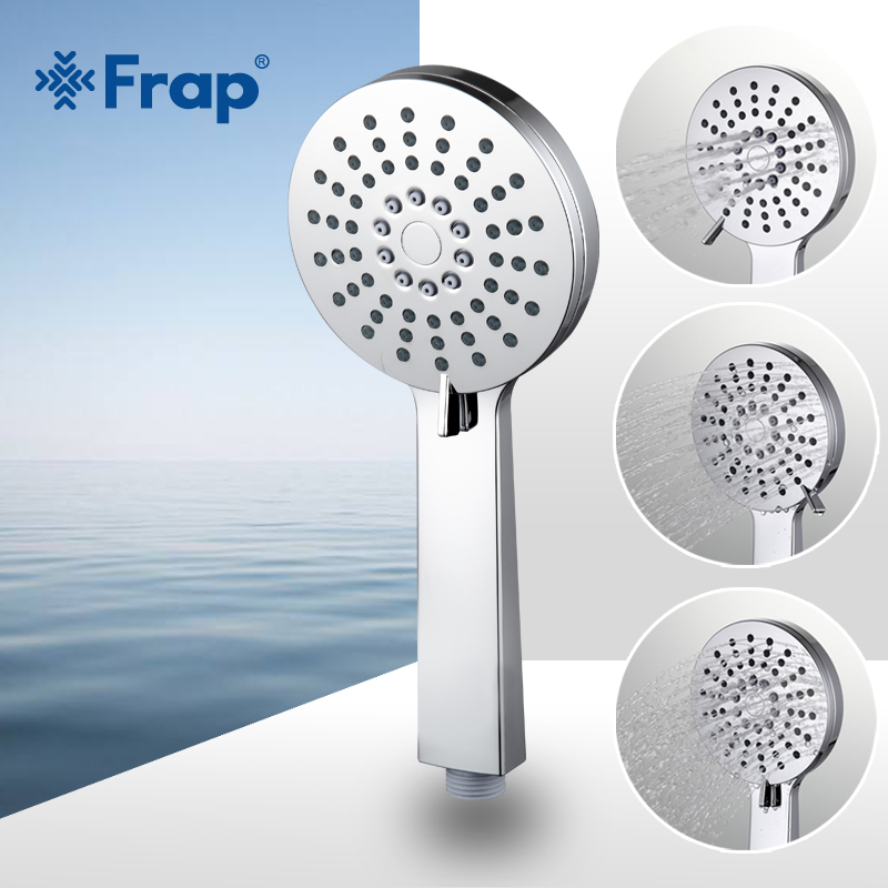 Frap Three Adjustment Water Saving Round Shower Head ABS Plastic Hand Hold Bath Shower Bathroom Accessories F006