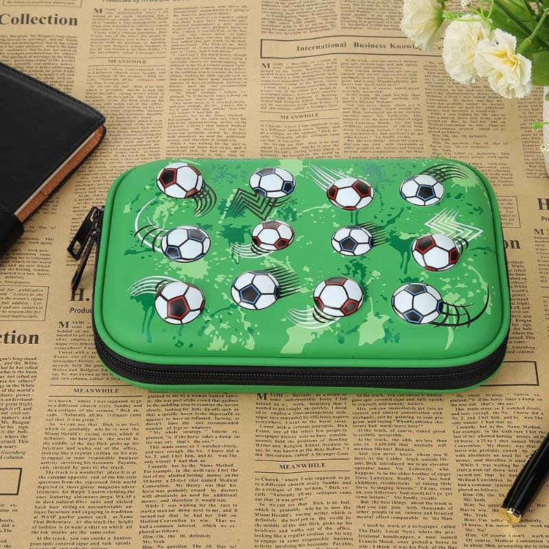 Large Capacity Pencilcase Pen Bags Footballs Kids Girls Boys Students Pencil Case Bag Kawaii Design School Supplies Stationery