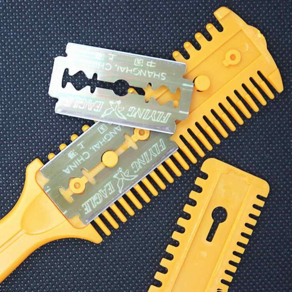 Wysokiej jakości 18*3cm profesjonalne nożyczki fryzjerskie nożyce fryzjerskie Razor Magic Blade grzebień nożyczki fryzjerskie