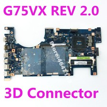 G75VX Mainboard REV2.0 3D Connector PGA989 For ASUS ROG G75V G75VX Laptop Motherboard G75VX Mainboard G75VX Motherboard Test OK(China)