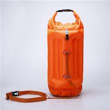 QUBABOBO Swim Buoy PVC Material 20L Swimming Tow Float Plus, Dry Bag untuk Perenang Terbuka Air dan Triathletes Orange S9001