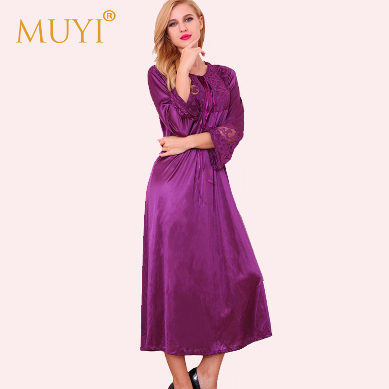 36e0c8da8b Dressing Gown Sexy Sleepwear Women Vintage Nightgowns Sleepshirts Full  Sleeve Night Dress Bridesmaid Robe Femme Pyjamas Vestidos-in Robes from  Women s ...