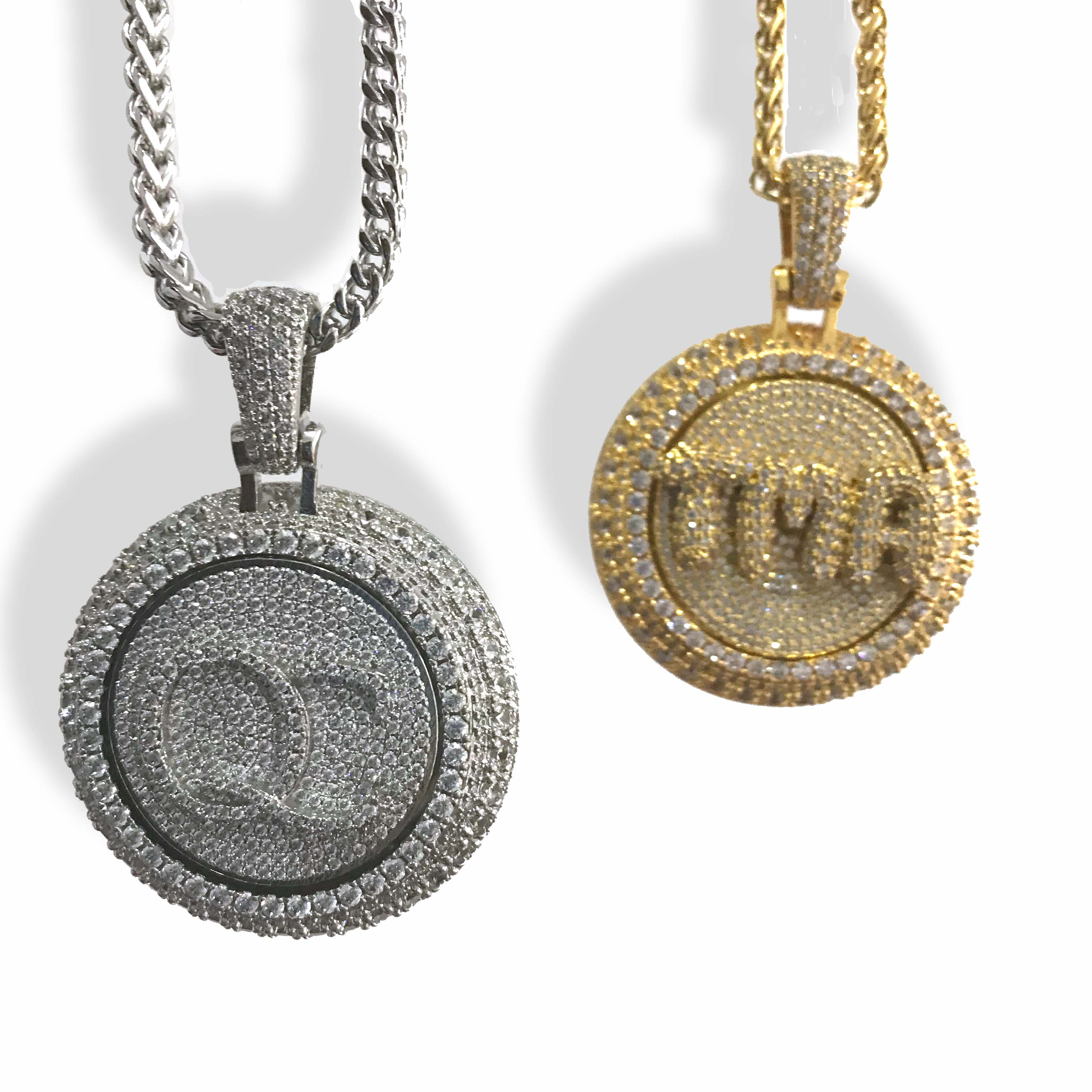 Image 2 - Personal custom spinning pendant gold plating pendant-in Charms from Jewelry & Accessories