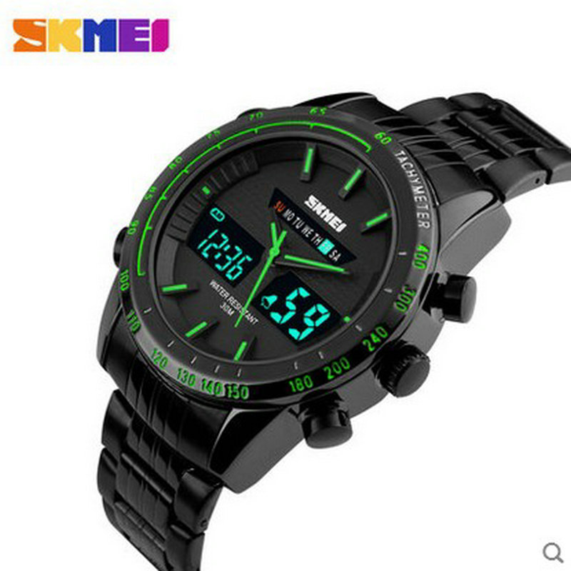 ФОТО Chinese trend multifuntion o clock watch with stainless steel chain wrist watch