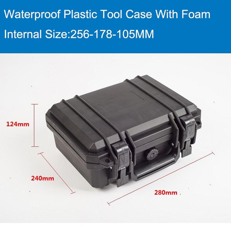 Водонепроницаемый чехол для инструмента с пеной для оборудования камеры, футляр для переноски, черный пластиковый герметичный защитный по