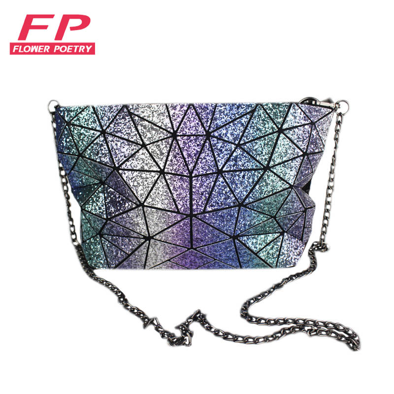 Flower Poetry New BaoBao Bag Women chain Lightnig Luminous Geometry Women Shoulder Bags Plain Folding Messenger