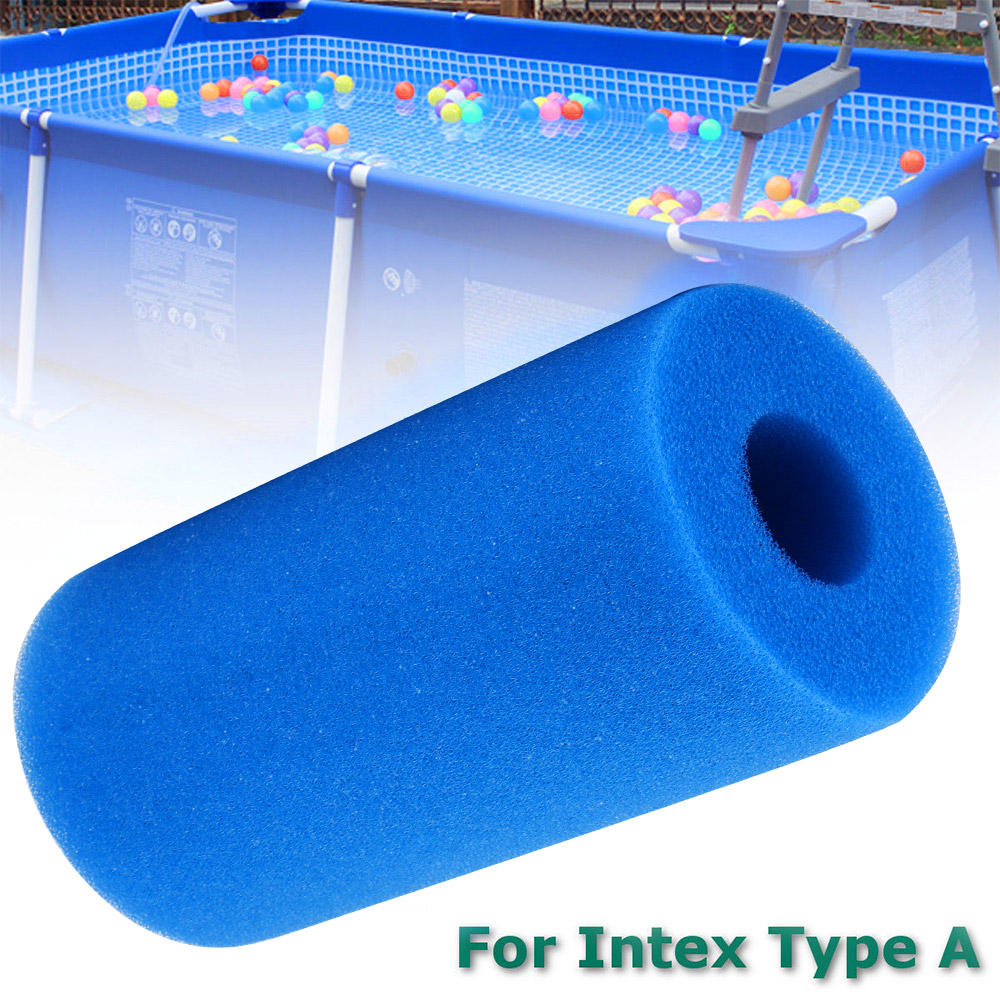 US $2.02 42% OFF|Swimming Pool Accessories Filter Foam Reusable Washable  Sponge Foam Suitable Bubble For Intex A Type Cleaner Filter Foam-in  Cleaning ...