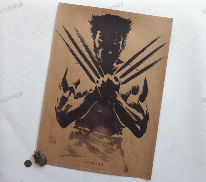 papel estilo retro vintage poster pared bar house art decoracin pintura wolverine poster vintage decor x