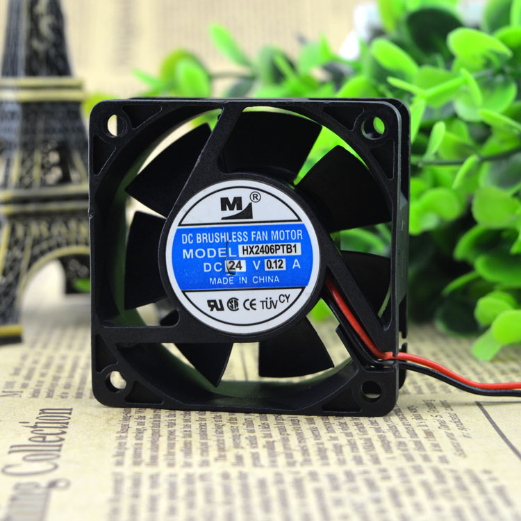 Free Delivery. YM2406PTB1 dual ball bearing cooling <font><b>fan</b></font> 6025 24 v <font><b>60</b></font> * <font><b>60</b></font> * 25 <font><b>mm</b></font> image