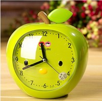 Детские студенты будут говорить голос мультфильм маленький apple ночной тихая ночь свет маленький будильник настольные часы
