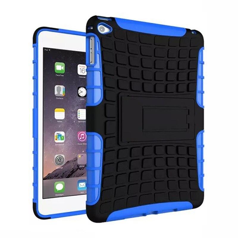 ,For iPad mini4 Antiskid Tablet Case Rugged Rubber Armor Hard PC Hybrid Kickstand Cover Cases Apple Mini 4 - Sor E-commerce store