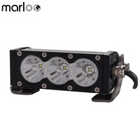 Marloo 6 Inch 30W White LED Work Light Bar Off Road Lights Single Row For SUV